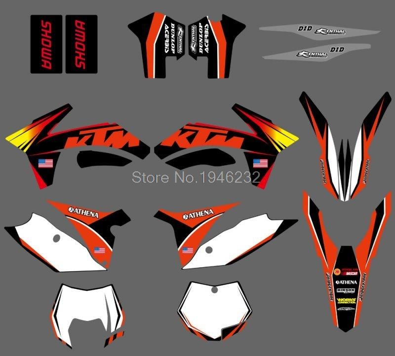 0071 Sunshine Orange NEW TEAM  GRAPHICS WITH MATCHING BACKGROUNDS FIT FOR  SX SXF 125/150/200/250/350 /450/500 2011-2012<br><br>Aliexpress
