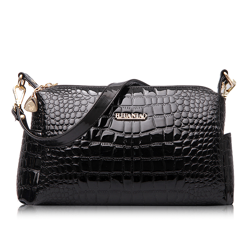 New Arrival 2016 Fashion American Style Women Handbags Alligator Bag PU Leather Shoulder bags Messenger Bags Tote Black ST106(China (Mainland))