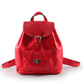 Designer Preppy Style Small Backpack Women Snake print Cowhide Bag Push Lock Small Bag High Quality
