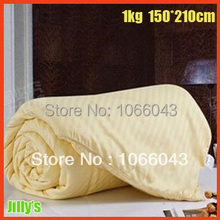 1kg Size 150*200cm 100% Silk Bed Sets/ Silk Comforter Spring Autumn Use / Single Twin Queen King Full 100% Cotton Handmade Quilt(China (Mainland))