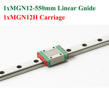 MR12 12mm Mini MGN12 Linear Guide Rail Length 550mm With MGN12H Linear Block Carriage For Cnc