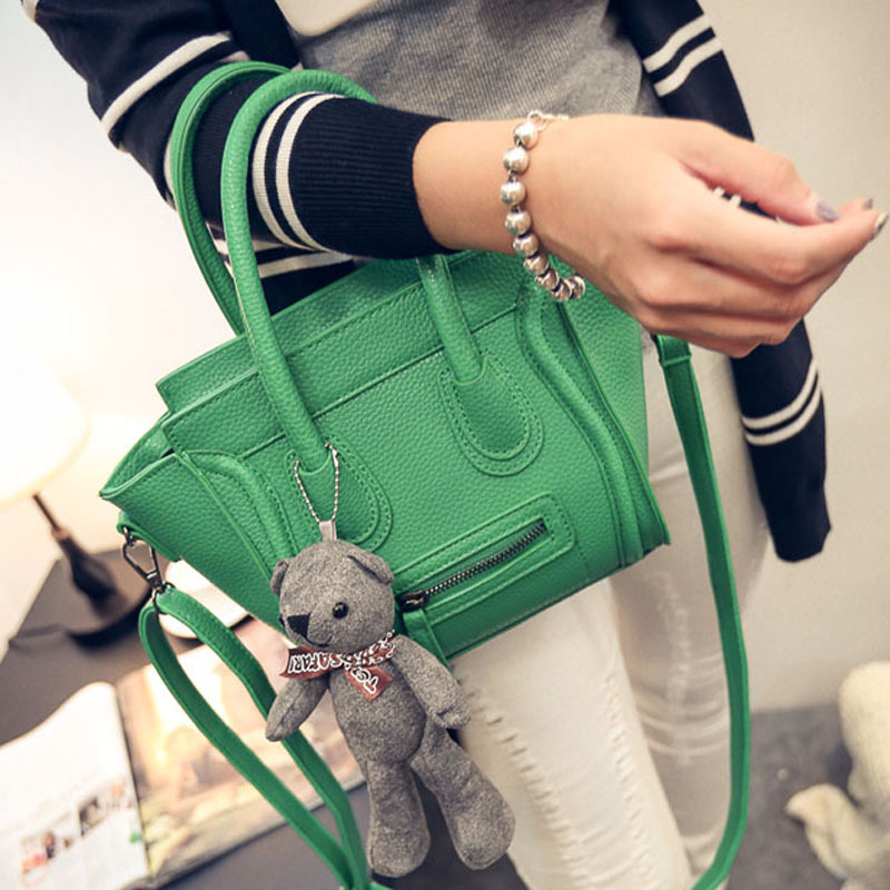 2016 new shoulder bag messenger bag bag retro wings washable women leather PU fabric fashion red green grey black<br><br>Aliexpress