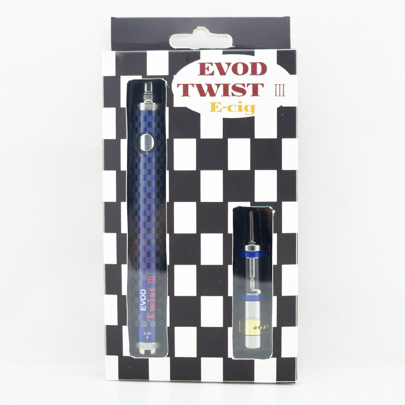 10 pcs lot E cigarette kit EVOD twist III 1600mah Kit voltage variable with m16 dual