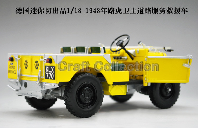Yellow Automobile Mannequin for 1/18 Rover Sequence- I LTD 1948 Minichamps Traditional Assortment Diecast Mannequin Automobile DIY Mannequin Customs Made