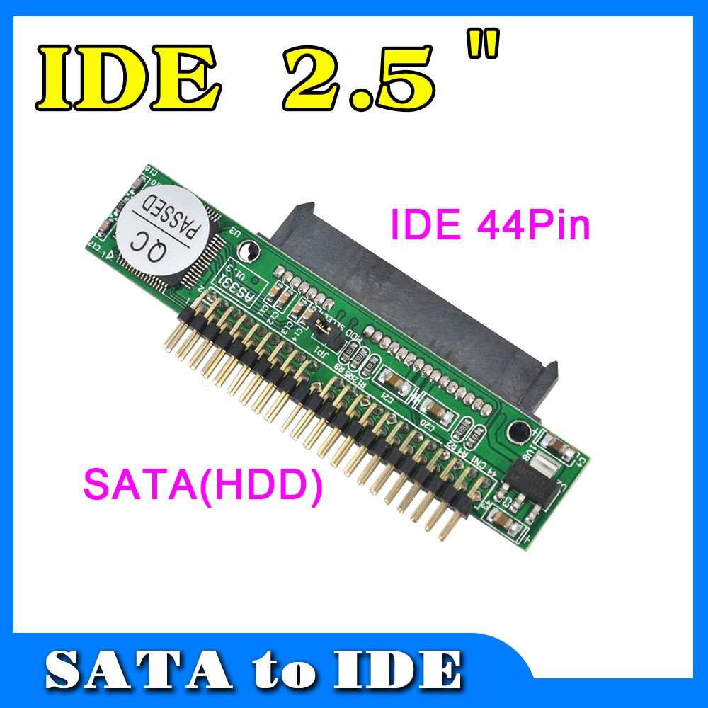 Hot Sata To IDE 2.5 Sata Female To 2.5 Inch IDE Male 40 Pin Port 1.5Gbs Support ATA 133 100 HDD CD DVD Serial Adapter Converter(China (Mainland))