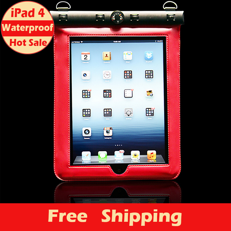 Hot Sale Fashion High Quality New Water proof Case for Apple Waterproof Shockproof Dirtproof Back Cases for iPad 4 Free Shipping(China (Mainland))
