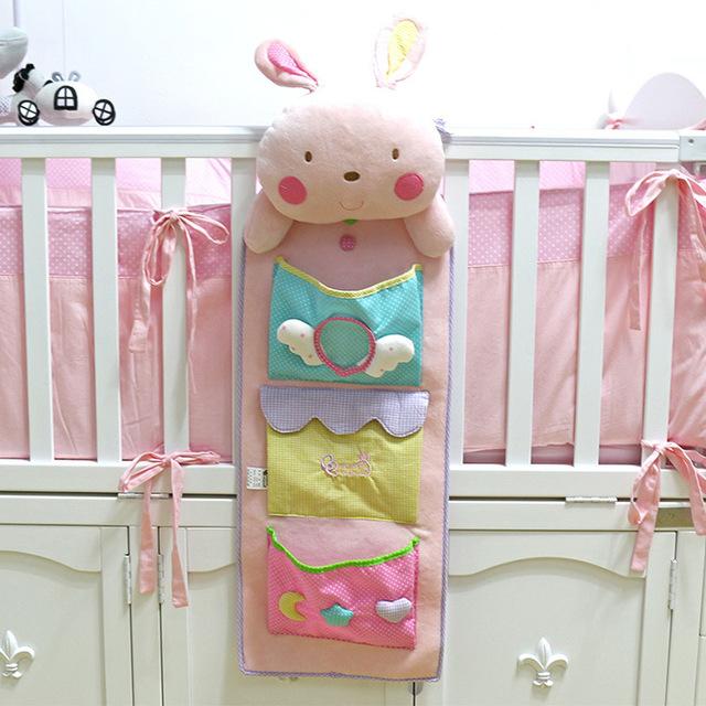 Милый ребенок кровать висит мешок хранения пеленки мешок организатор кроватки 75*25 см пеленки сумка для хранения игрушки карман для детской кроватки постельные принадлежности набор