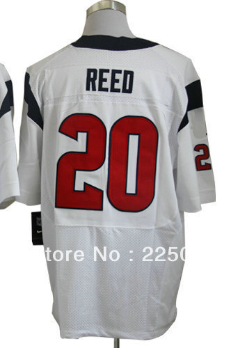 Free Shipping Wholesale & Retail Men's American Football Elite Jersey #20 Ed Reed White Jerseys Size M-3XL All Stitched(China (Mainland))