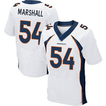 Men's #54 Brandon Marshall Elite White Football Jersey %100 Stitched(China (Mainland))