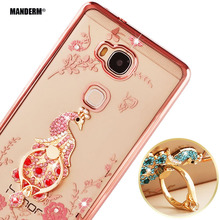Buy honor 5x Luxury Rhinestone Phone Case Cover Finger Rotated Ring Holder Stand Huawei Honor Play 5X Ultra-thin Silicone Case for $3.79 in AliExpress store