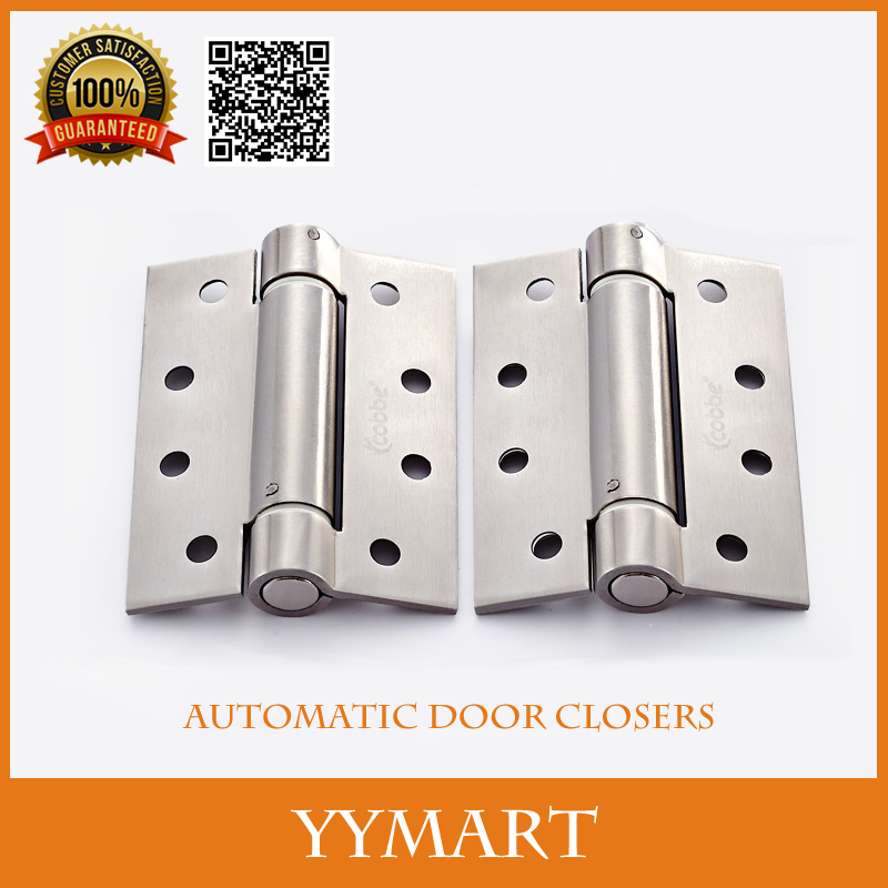 """1PC 4"""" Hardware Satin Stainless Steel Position Hidden Wood Door Hinges Automatic Door Closers(China (Mainland))"""