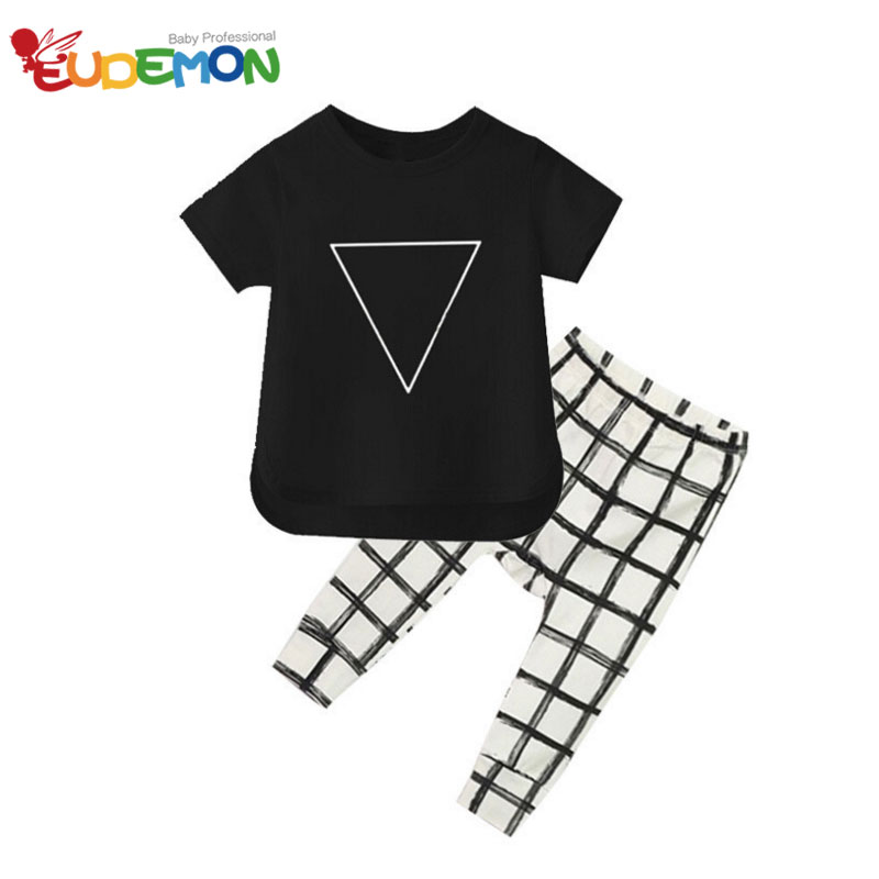 [Eudemon] kids clothes Summer Style Baby Sets Cotton character boys clothes Unisex girls sets short and kids pants(China (Mainland))
