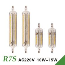 Buy R7s Led 15W 118mm Lamps 360 degree 10W 78mm Lampadas Led R7s 2835 SMD Leds Bulb Replace Halogen Lamp 20mm Diameter for $3.54 in AliExpress store