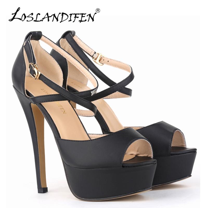 Online Get Cheap Peep Toe Ankle Strap Heels -Aliexpress.com