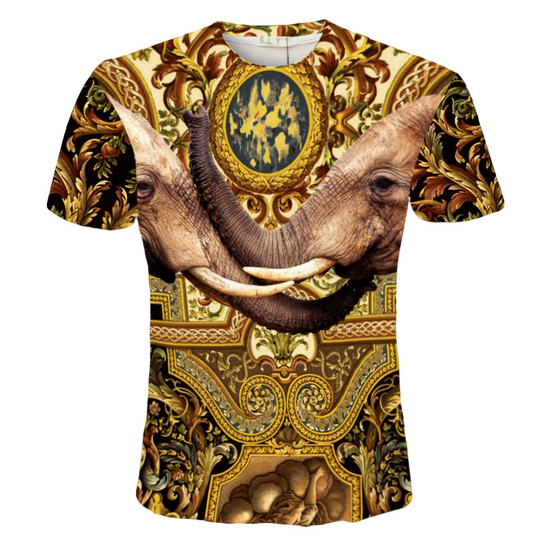 Sreddy mens printed t shirt mannen t-shirt vetement homme india Elephant Buddha tie dye 3d t shirts fashion 2016 brand clothing(China (Mainland))