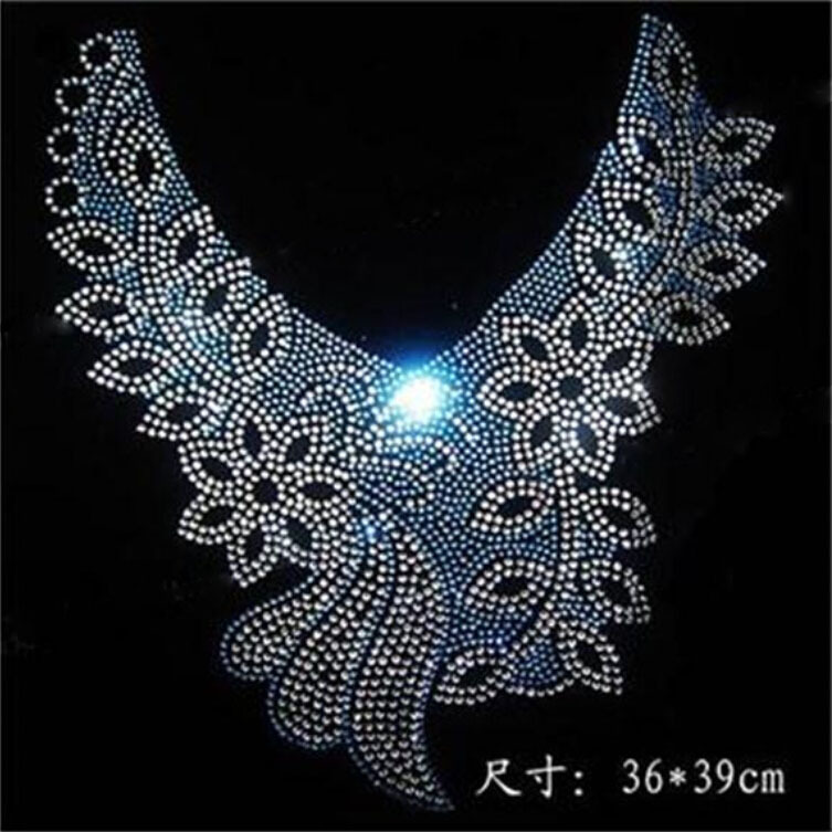 Crystal Multi Color Hot Fix Picture Shining Star Design Hot Fix Rhinestone Heat Transfer Design Rhinestone For Garment008(China (Mainland))