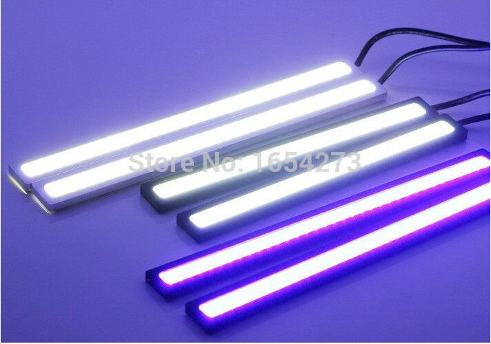 Ultra Bright 18W 14cm Silver Shell Daytime Running light 100 Waterproof COB Day time Lights LED