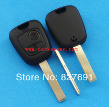 20pcs 2 button remote key shell fob case for Peugeot 407 without logo key blank fob