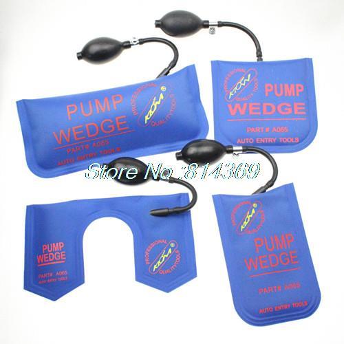 4pcs/lot Cheap New klom pump wedge Air Wedge Airbag Auto Locksmith Tool lock pick set open car door lock S/M/L/U wedge(China (Mainland))