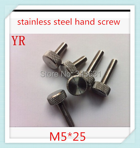 M5*25 High Quality  Stainless steel 304 Flat Head  Knurled hand tighten screws (20pcs/lot)<br><br>Aliexpress