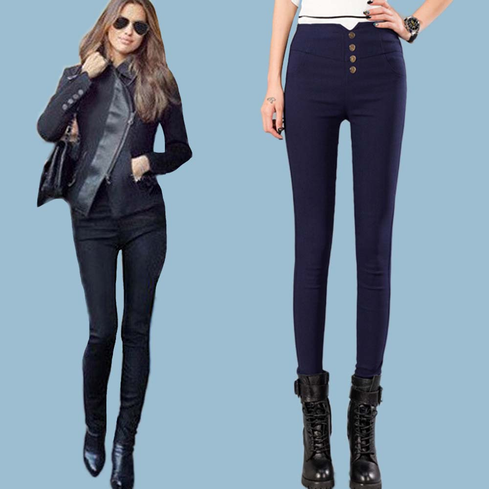 S- 4XL 2015 New style Hot sale women Pants High Waisted Slim Stretch pencil pants female fashion capris Leggings Trousers(China (Mainland))
