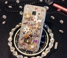 Buy Samsung Galaxy Grand Prime G530 G355H G360 I9082 G7106 I8552 E5 E7 C5 C7 Handmade Rhinestones case Crystal cover Bear Style for $11.99 in AliExpress store