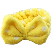 BISM Wave point Headband Snood Headwear Hair accessories Yellow