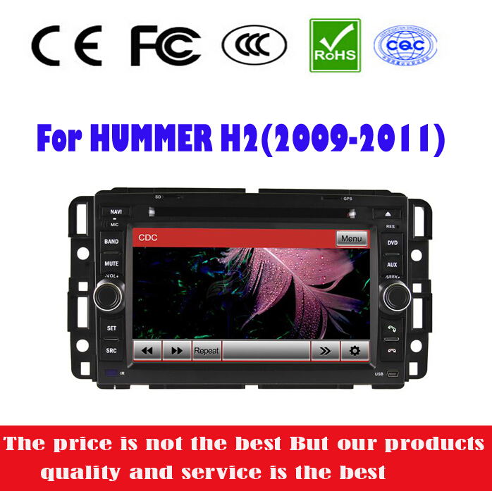 Special Car DVD Player For Hummer H2 2008-2011 Stereo Radio with GPS+IPOD+BT+DVD+RM/AM+RDS+SD+USB+RCA+AUX+CAN BUS+free GPS card(China (Mainland))