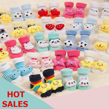 HOT SALE Free Shipping Cute Cartoon Animal Baby Warm Thick bottom Socks Newborn to 6 Month Autumn Winter Infant Gift