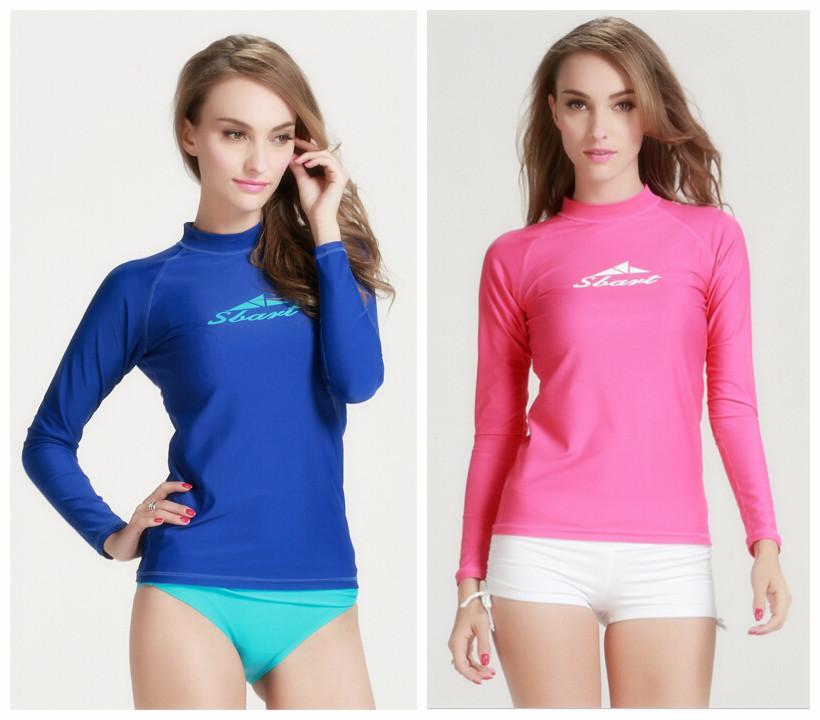Sbart Simple Design Women Wetsuit Top Long-Sleeved Swimwear Spearfishing Equipment Traje Triatlon Suit Women Long Swimming Suits(China (Mainland))