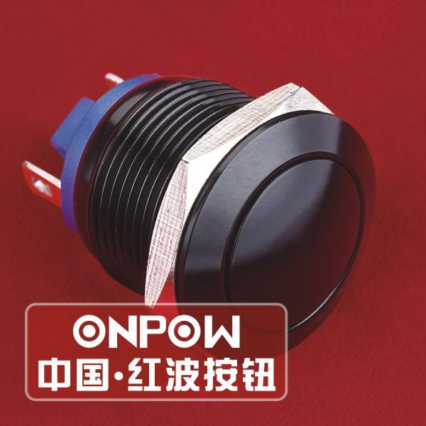 Гаджет  ONPOW 19mm Domed head waterproof black Aluminium Push button switch with pin terminals (GQ19B-10/J/A) CE,ROHS Free shipping None Электротехническое оборудование и материалы