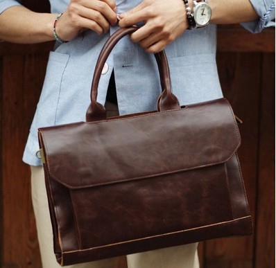 HOT!! 2015 new men messenger bags men 100% genuine leather bag brand luxury high quality laptop shoulder bags briefcase for men(China (Mainland))