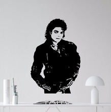 Buy Michael Jackson Wall Vinyl Sticker Bad Album Music Decal Retro Art Decor Dorm Teem Room Home Interior Removable Mural for $13.29 in AliExpress store
