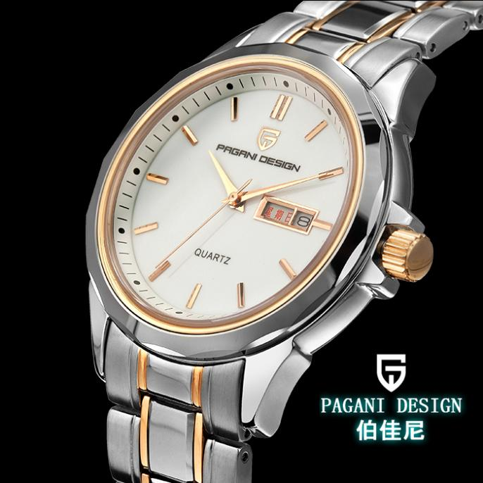 Pagani Design Dual calendar quartz couple tables on the table between male and female gold luxury watches (RS-3204M)(China (Mainland))