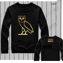 Eggs Cotton Men's Sportwear Coat Jogger Tracksuit Pullover OWL Sweatshirt Crewneck Bird OVO Drake OVOXO Black Hip Hop Hoodie Men
