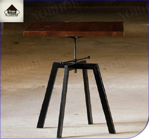 Industrial Style Lift Top Coffee Table: American Industrial Loft Style Wood Coffee Table Square