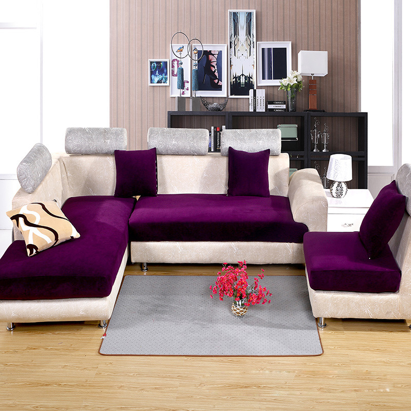 High grade sofa cover 7Colors home textile solid Polyester fabric Sofa cover Modern style Sofa towel Sectional Sofa covers