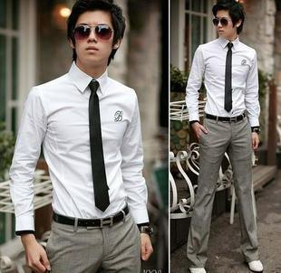 New Adult Male black narrow tie small tie black tie for working man fashion design