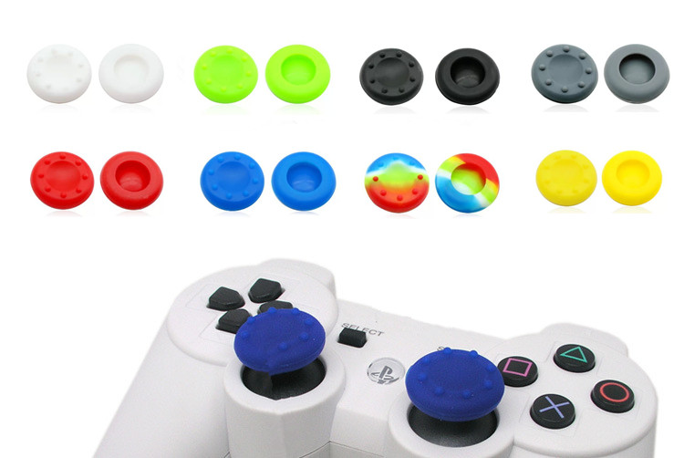 Silicone Analog Grips Thumb stick handle caps Cover For Sony Playstation 4 PS4 PS3 Xbox Controllers 20pieces(China (Mainland))