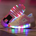 Heelys Roller Kids Shoes with LED Light Children Shoes with Wheels Pink Black Kids Shoes Sneakers