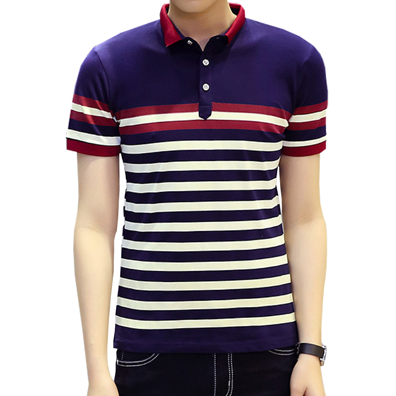 2016 new men polo shirt classic striped casual mens polo for Mens casual polo shirts