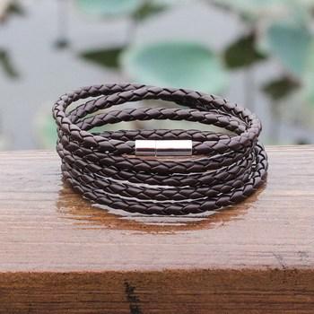 Braided 5 Laps Leather Bracelet