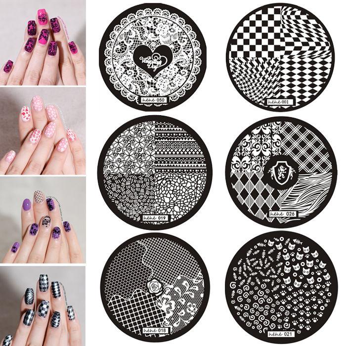 Hot Sale Premium Nail Art Image Stamp Stamping Plates Manicure