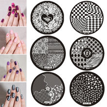 Hot Sale Premium Nail Art Image Stamp Stamping Plates Manicure Templates DIY Plate hehe Series