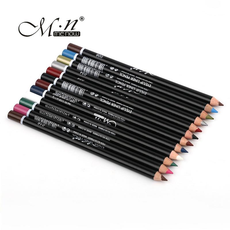 MENOW 12 Colors Eye Make Up Eyeliner Pencil Waterproof Eyebrow Beauty Pen Eye Liner Lip sticks Cosmetics Eyes Makeup(China (Mainland))