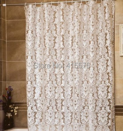 Earlygreen Elegant Flower Peva 78 Inchesx86 Inches Bathroom Shower Curtain Liner for Home / Traval / Hotel with Hooks(China (Mainland))