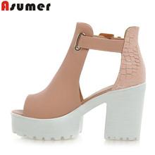 2016 new women sandals sexy peep toe women's high heels platform shoes woman lady party wedding shoes