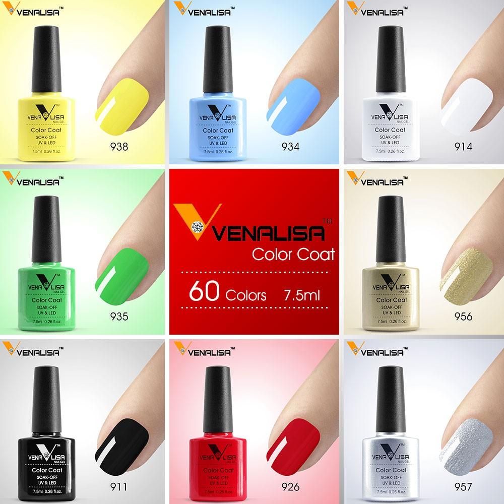 #61508 Frete Grátis Nail Art Venalisa Novo 60 Cores 7.5 Ml de Molho Off Gel Polonês LEVOU Unhas de Gel UV polonês