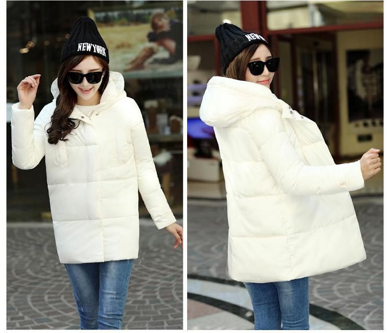 Скидки на 2016 новых зимнее пальто женщин в длинный отрезок женщины самосовершенствование куртка с капюшоном пуховик хлопок куртка утолщение