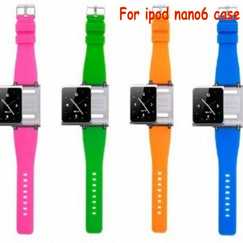 Wrist Strap Watch Band iPod nano 6 ipod nano6 Retail Package 9 colors case funda coque - YZC Electronic Speciality Store store